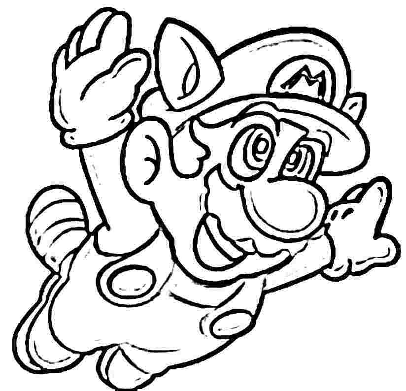 8 Images of Free Printable Mario Bros Coloring Pages