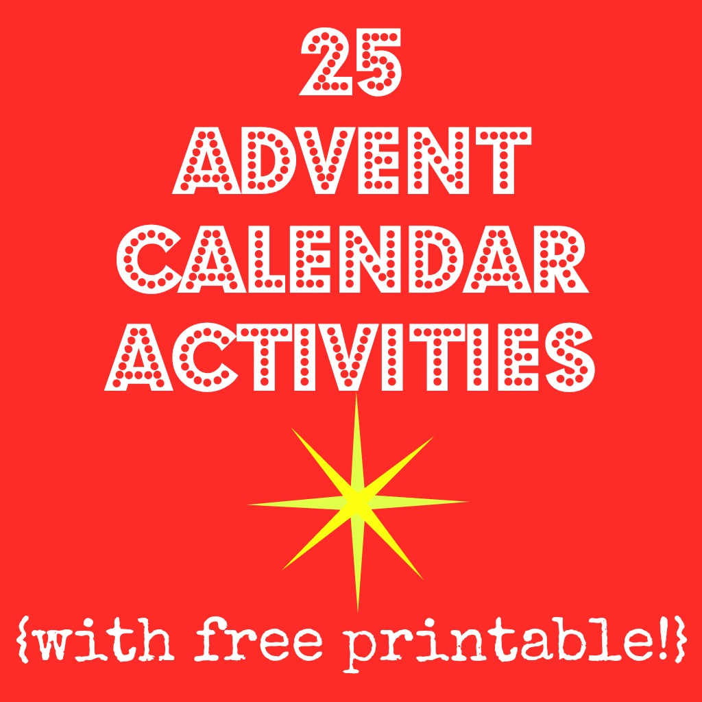 5 Images of Printable Advent Calendar Activities