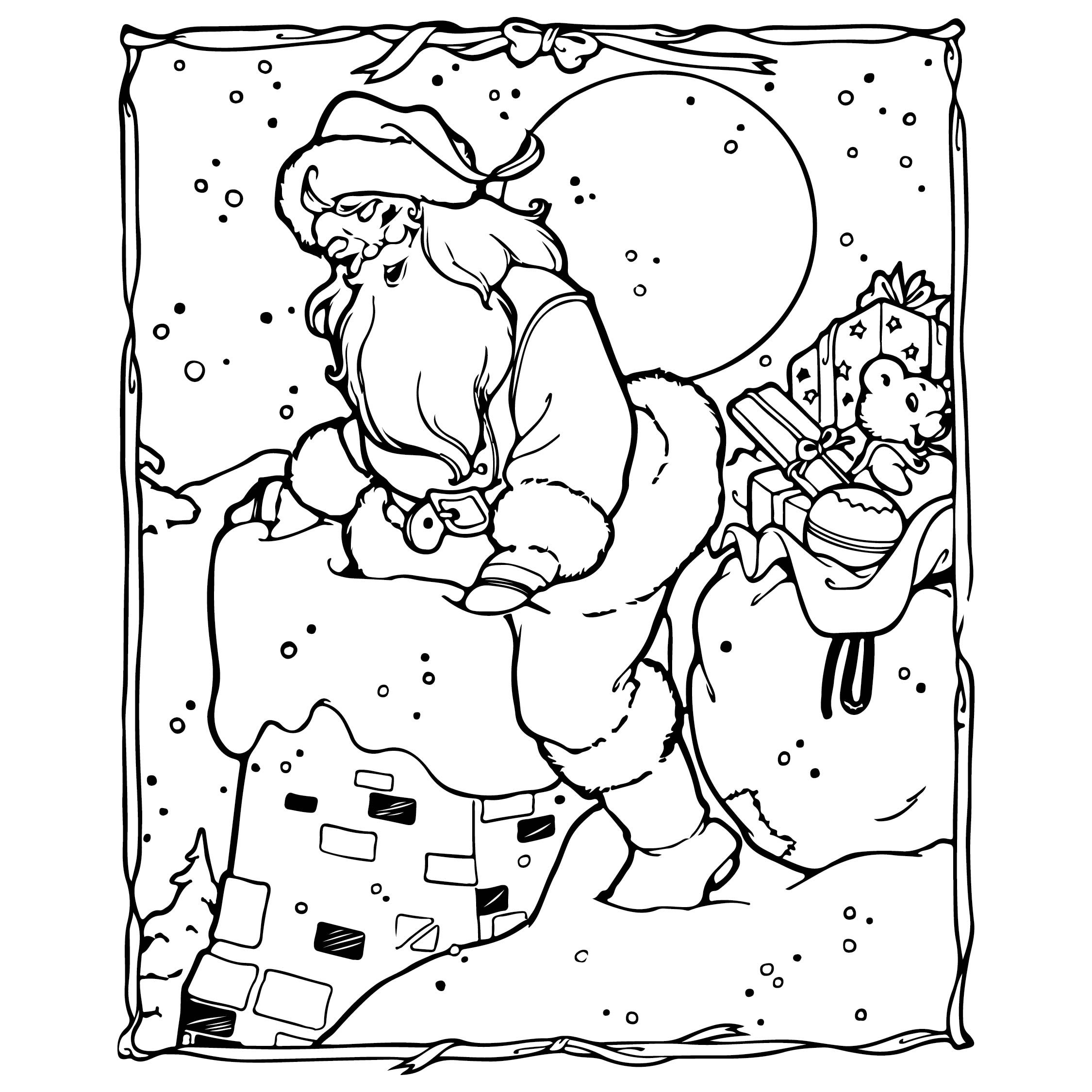 6 best images of printable coloring christmas tree card for Christmas cards coloring pages