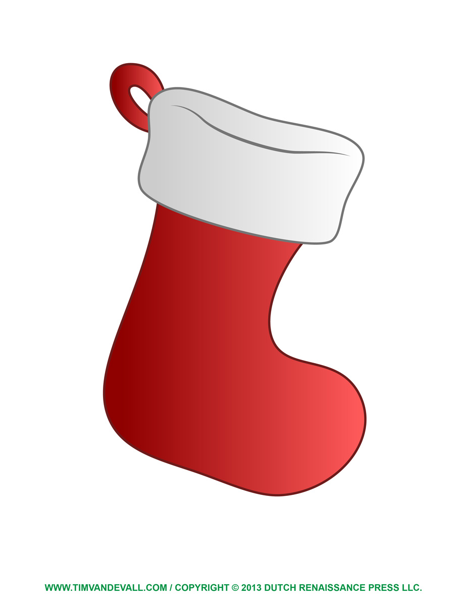 6 Images of Printable Christmas Stocking Clip Art