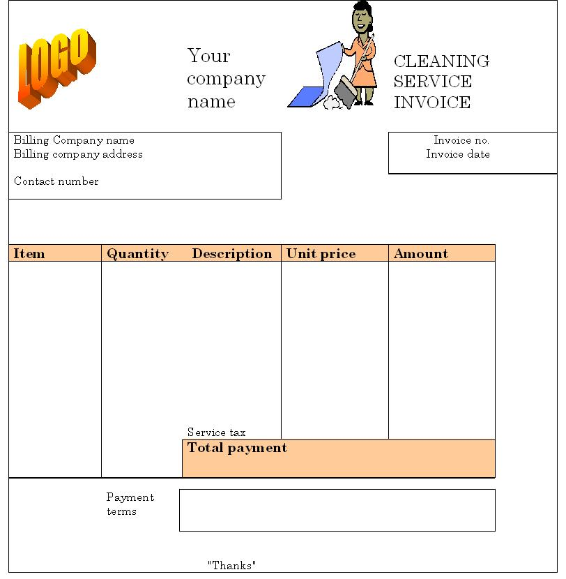 8 Best Images of Printable House Cleaning Invoice - House Cleaning Invoice Template, Team Leader ...