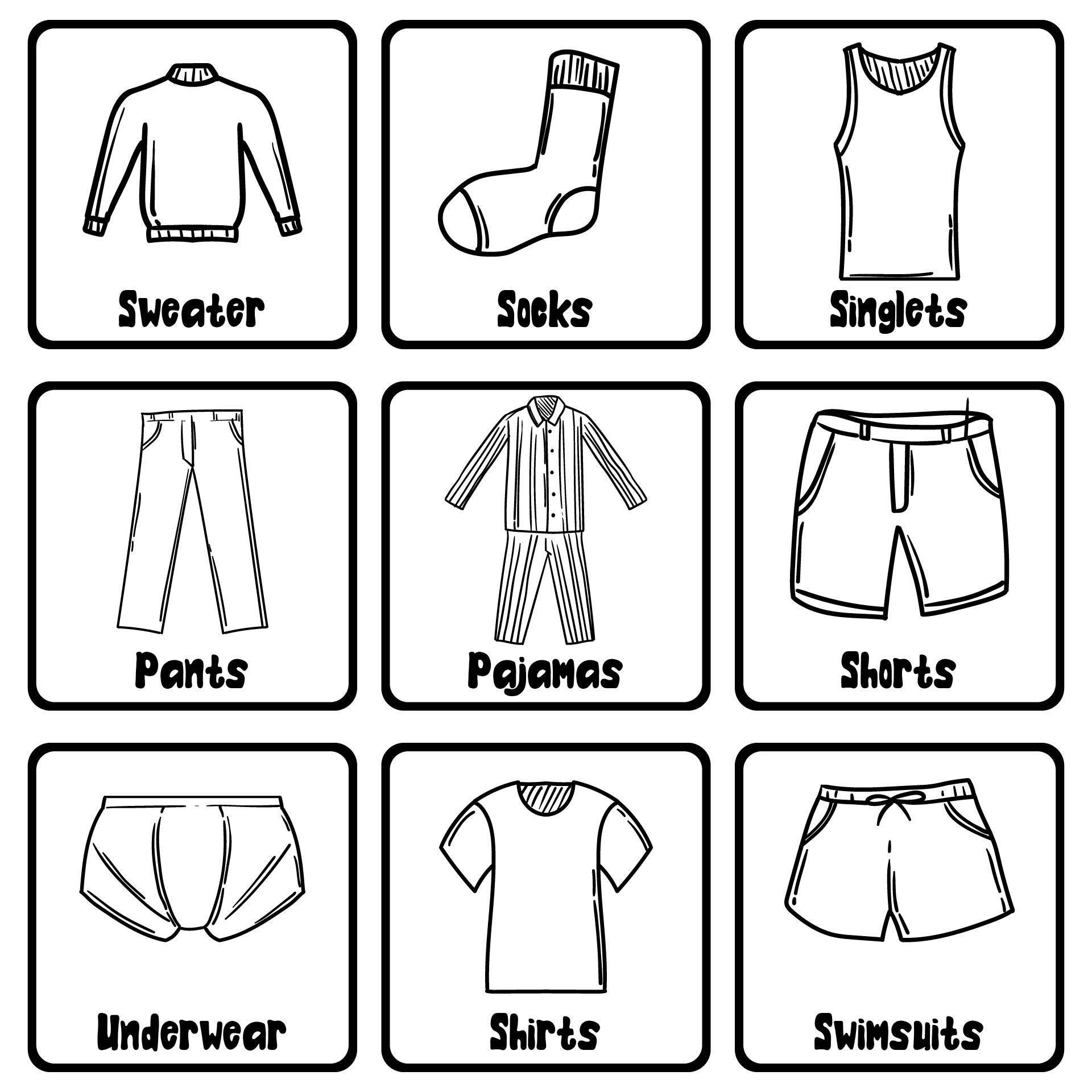 Clothing Drawer Labels Kids