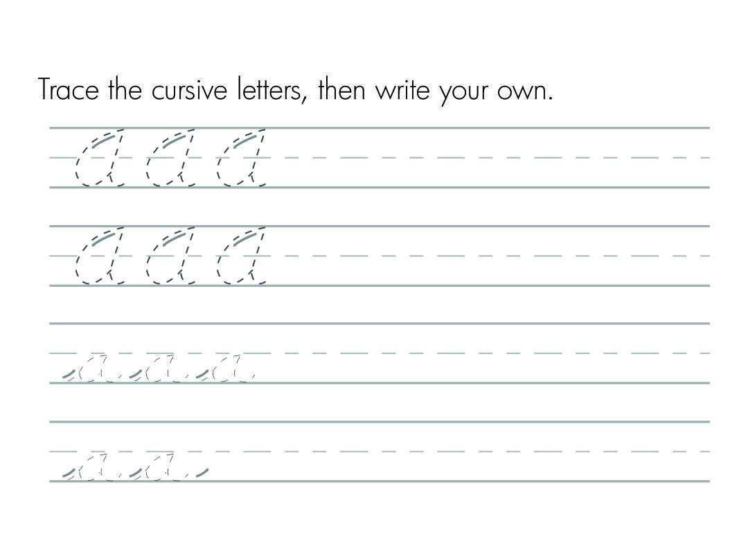 Cursive Letters Worksheets Printable