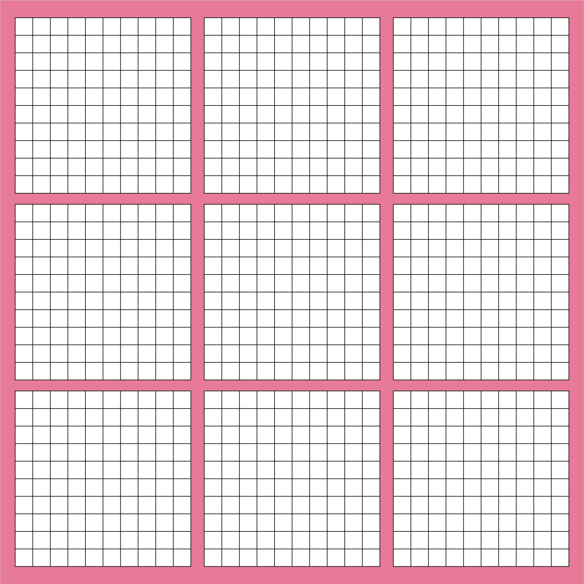 Shocking image in printable hundredths grids
