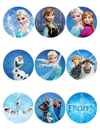 Disney Frozen Printable Round Stickers