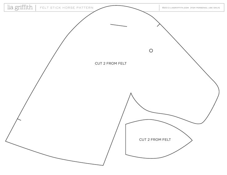 5 Images of Printable Horse Head Pattern