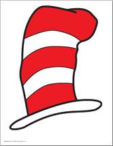 4 Images of Dr. Seuss Cat Hat Printables