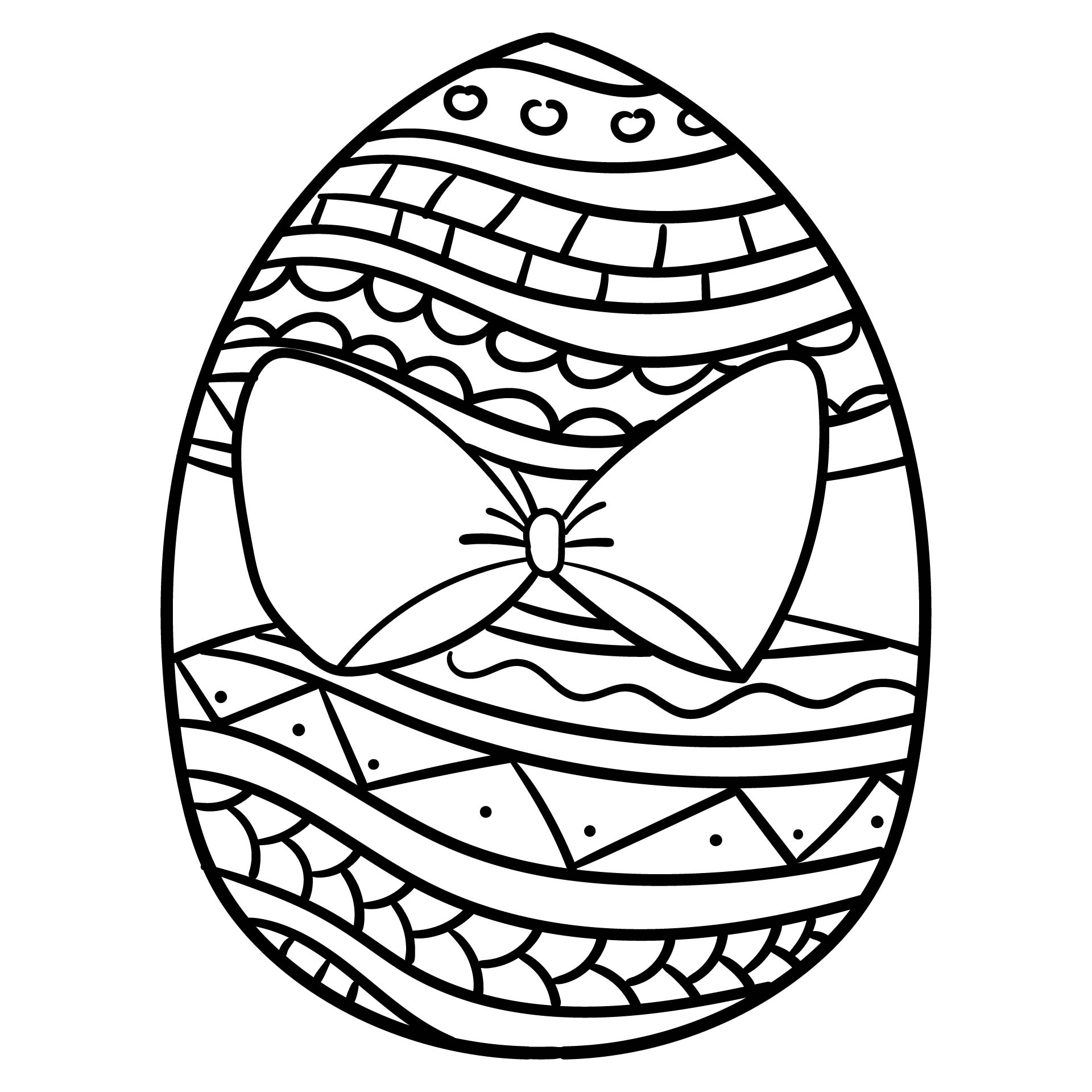 7 Images of Free Printable Easter Egg Coloring Pages