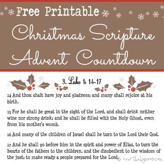 Free Advent Calendar Scripture