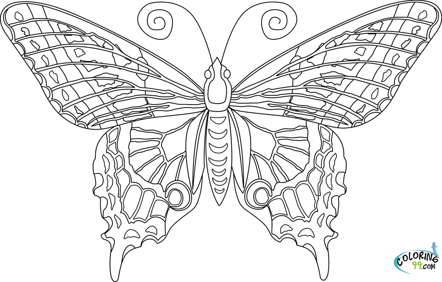 Free Butterfly Coloring Pages Adult