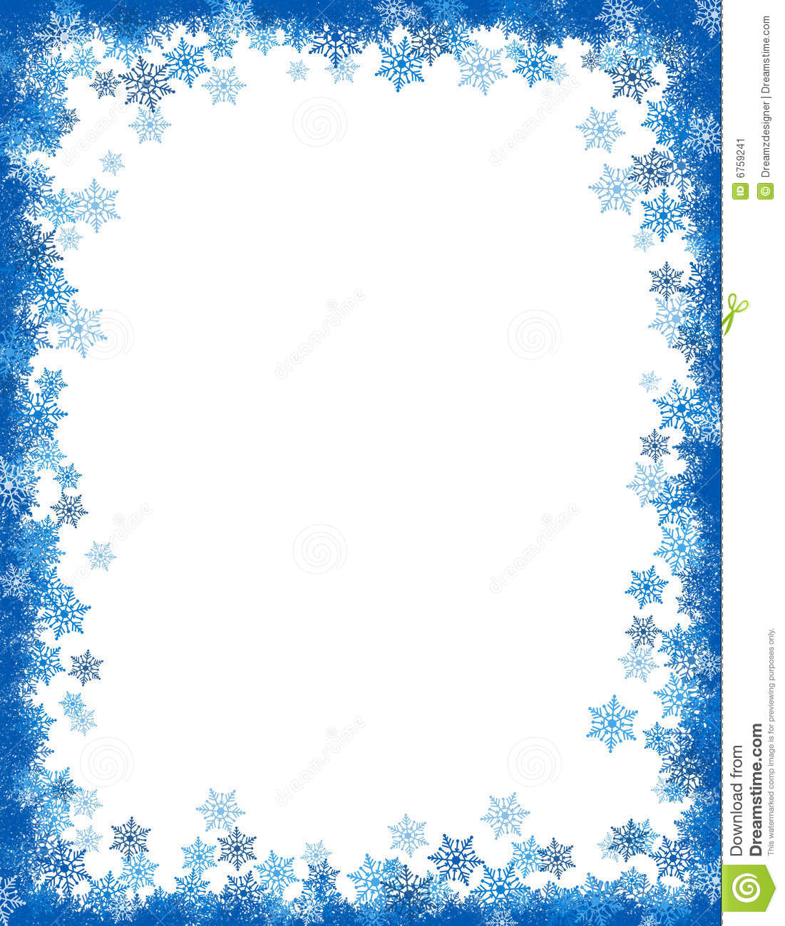 6 Best Images Of Free Printable Winter Borders