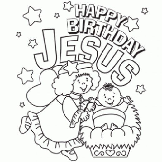 Free Happy Birthday Jesus Coloring Page