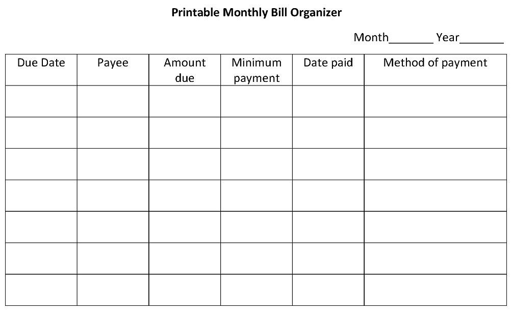 Best Images of Printable Monthly Money Management - Monthly Money ...