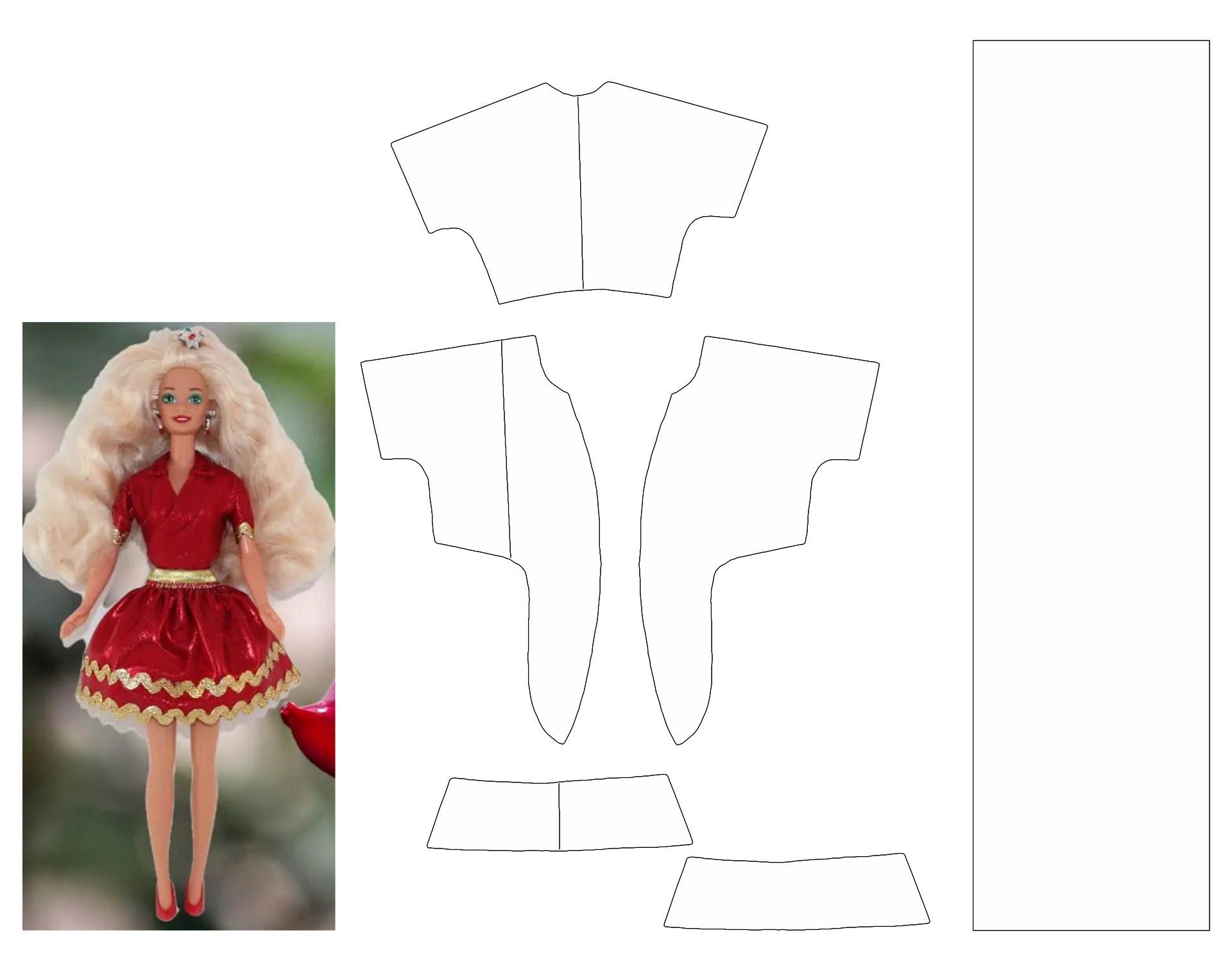 Printable Barbie Doll Dress Pattern