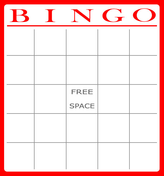 8 Images of Free Printable Bingo Cards Large