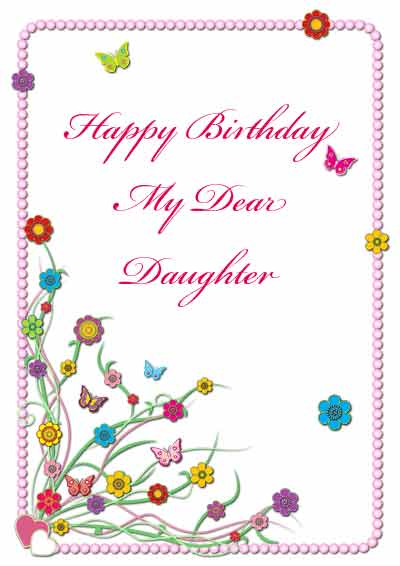 7 Images of Printable Birthday Cards Daughter
