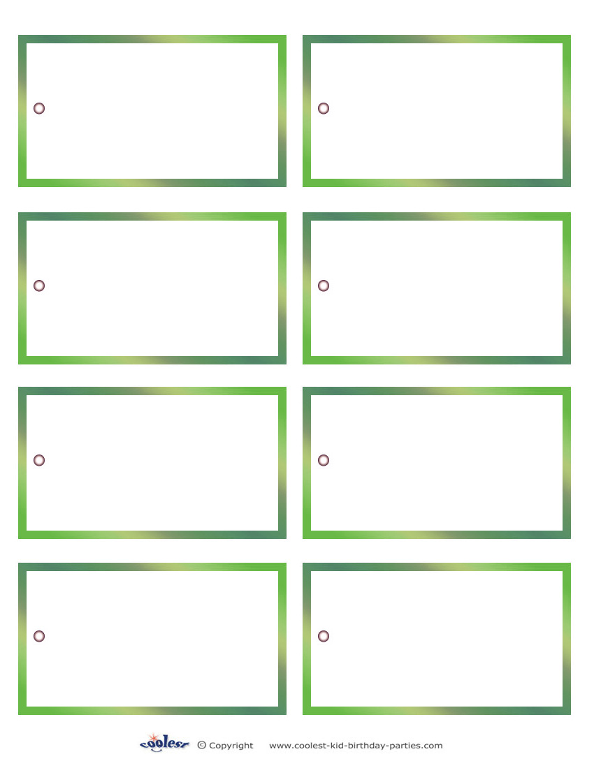Free Printable Blank Gift Tag Template
