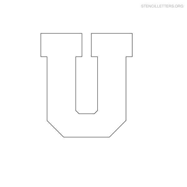 8 Images of Printable Block Letter Stencils U