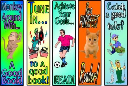 Free Printable Bookmarks Reading