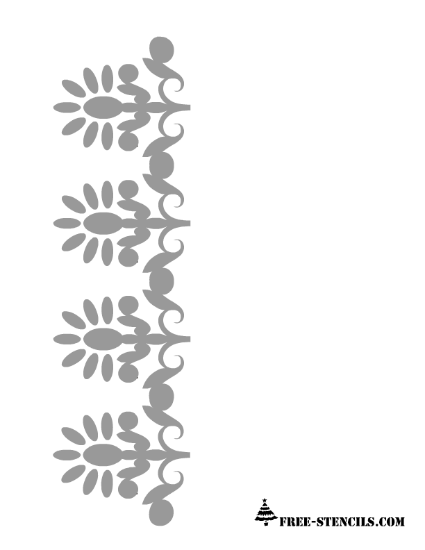 8 Images of Border Stencils Printable