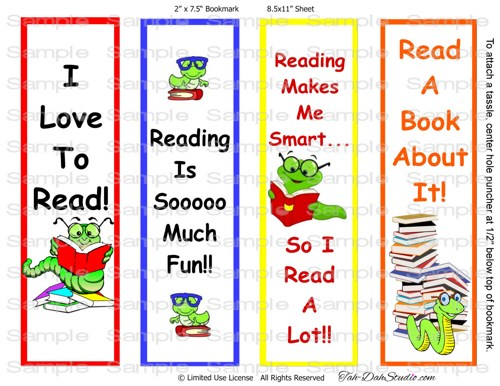 Free Printable Boy Bookmarks