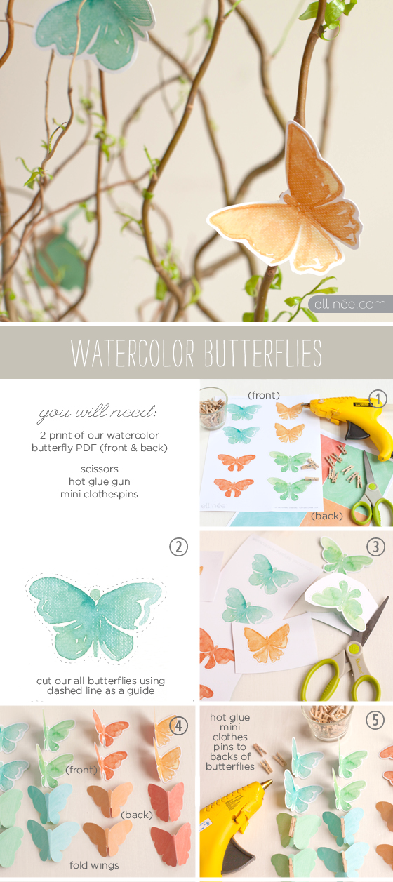 Free Printable Butterfly Watercolor