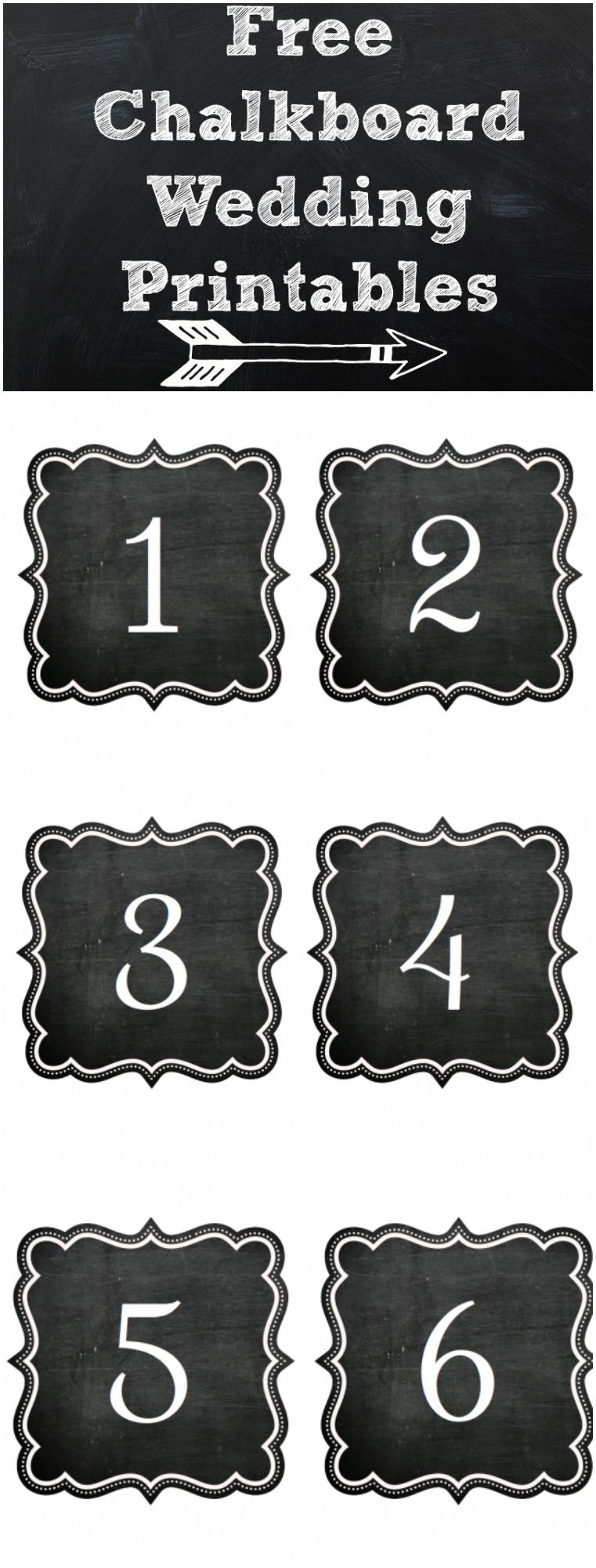 Free Printable Chalkboard Numbers
