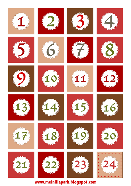 5 Images of Free Printable Advent Calendar Numbers