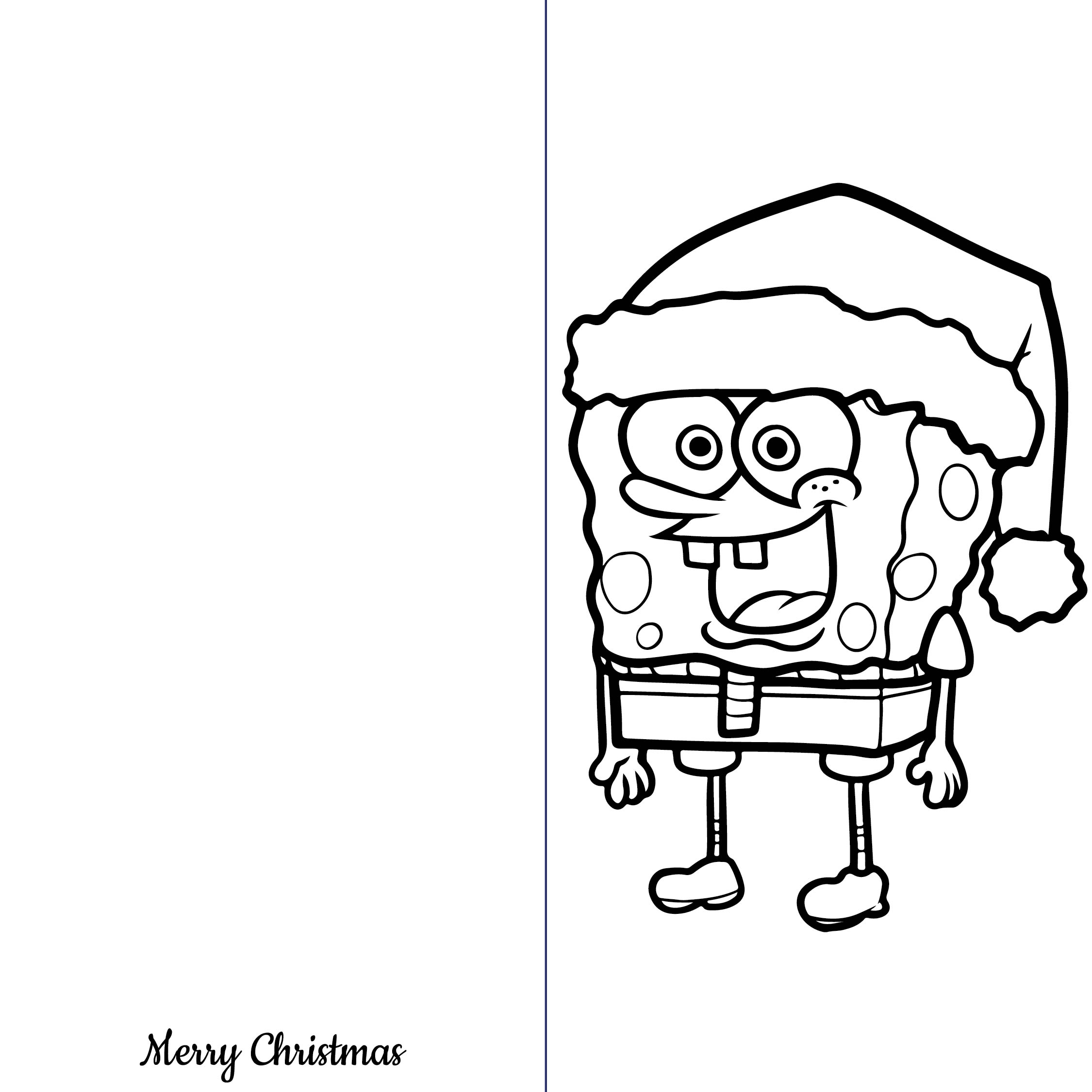 6 Images of Printable Coloring Christmas Tree Card