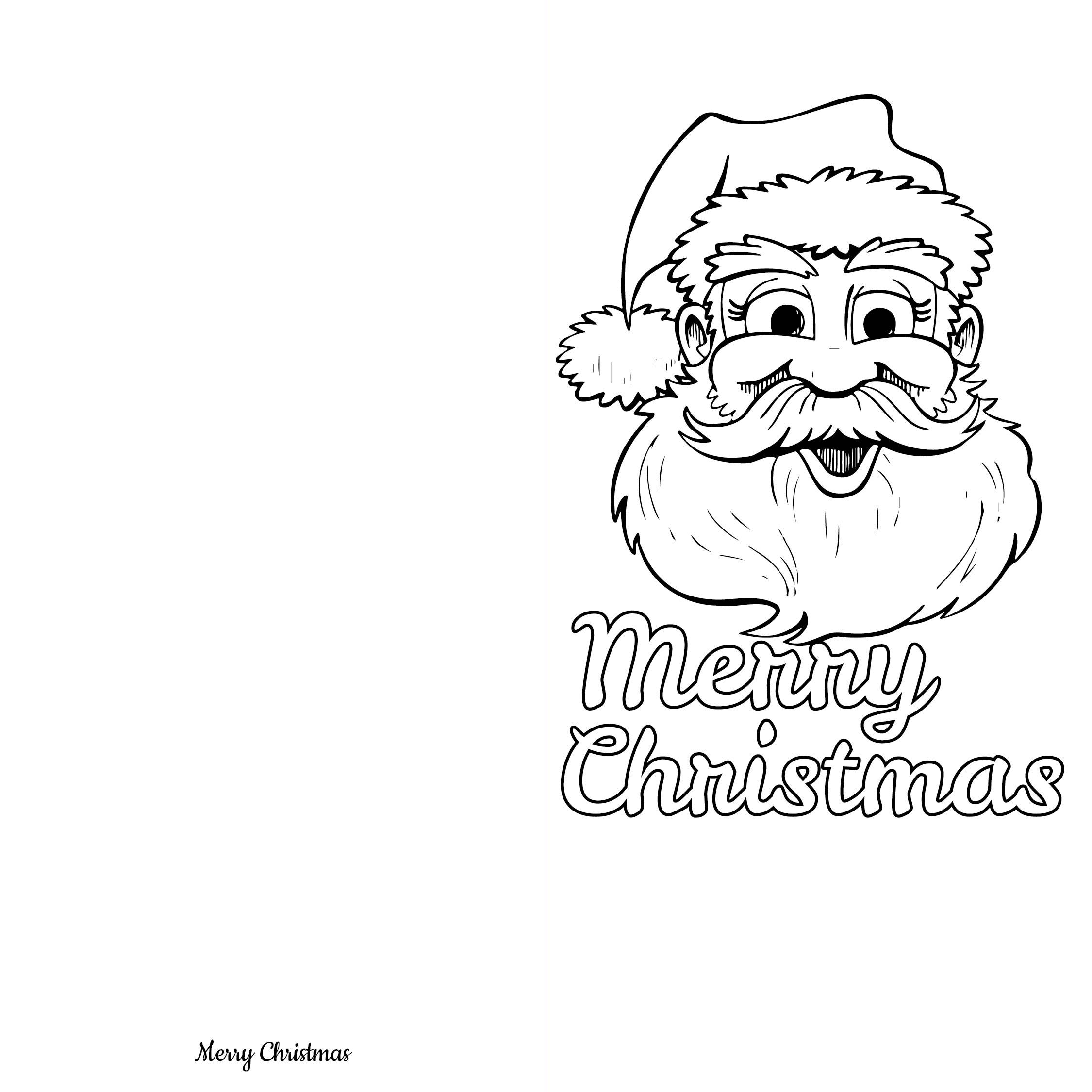 Printable Christmas Coloring Cards