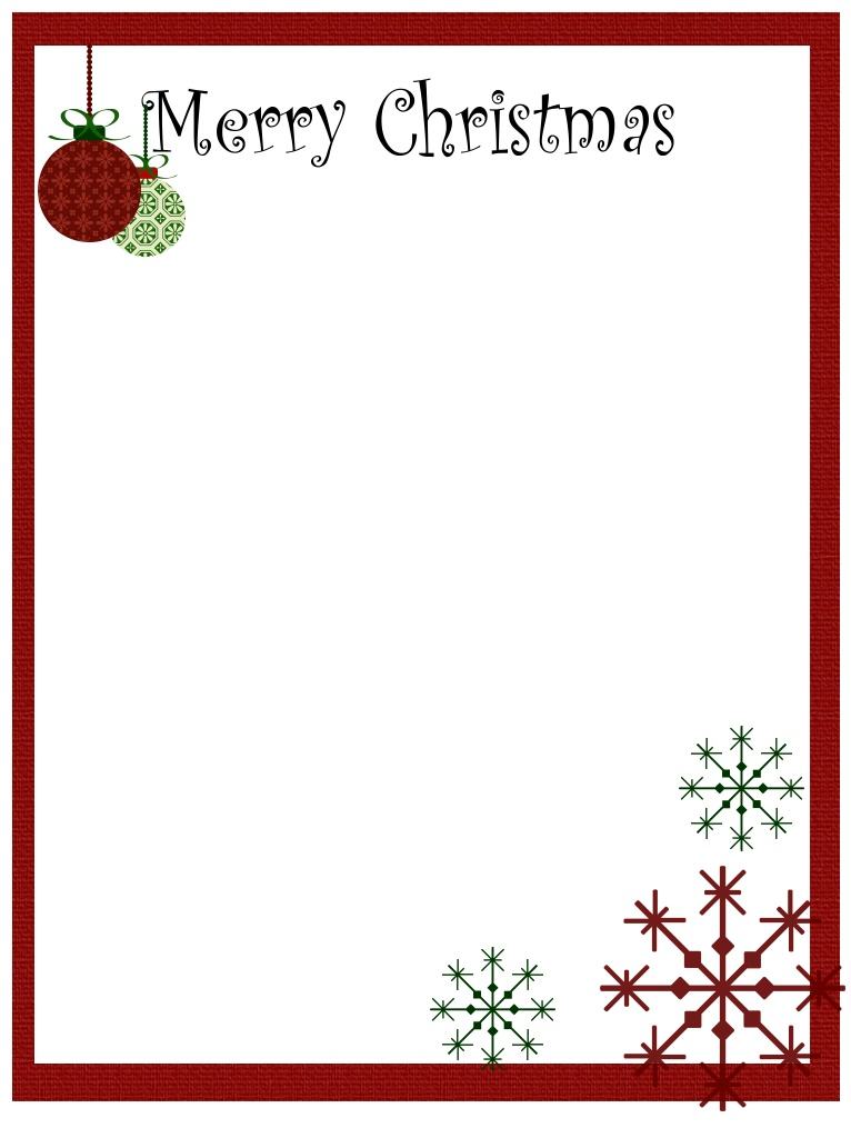 4 Images of Printable Christmas Borders