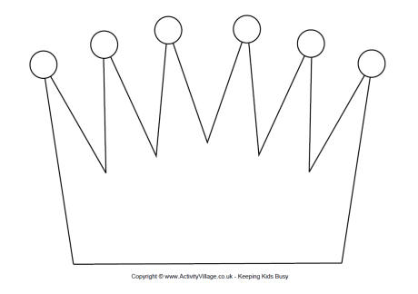 8 best images of free printable crown craft free for Free printable tiara template