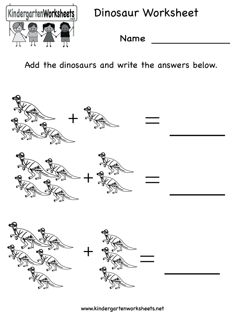 6 Best Images of Dinosaur Math Printables - Dinosaur Math Preschool Worksheets, Kindergarten ...