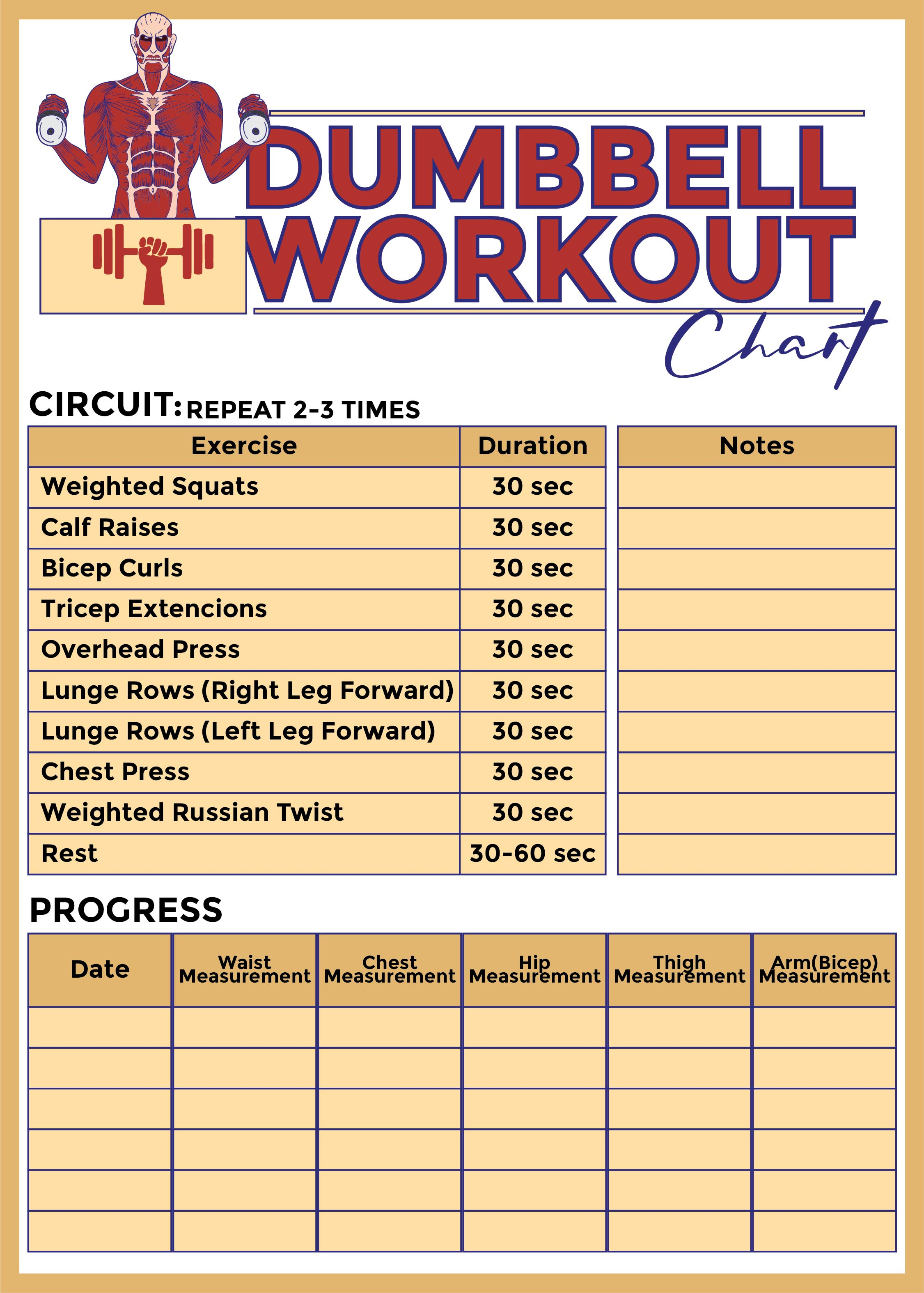 9 Images of Free Printable Workout Charts