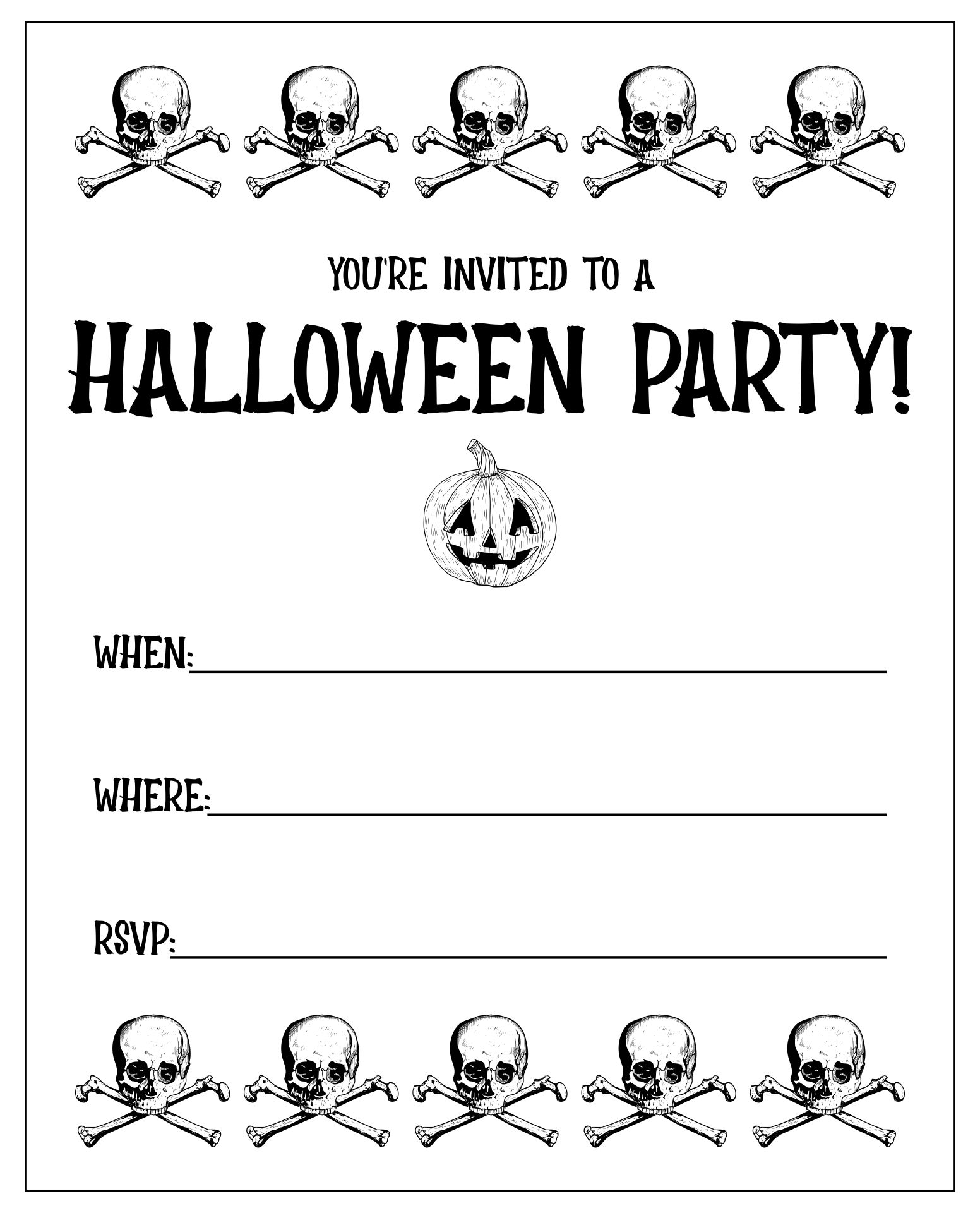 7 Images of Happy Halloween Printable Party Invites