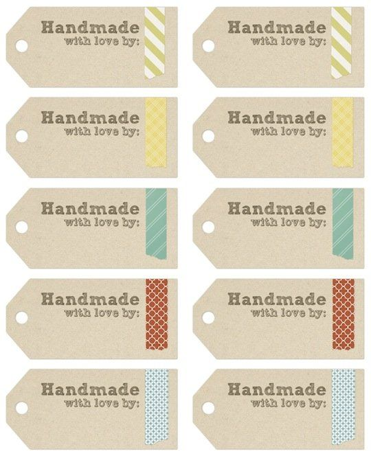 12 Images of Free Printable Labels For Homemade Gifts