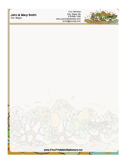 4 Images of Printable Stationery Paper Samples Designed