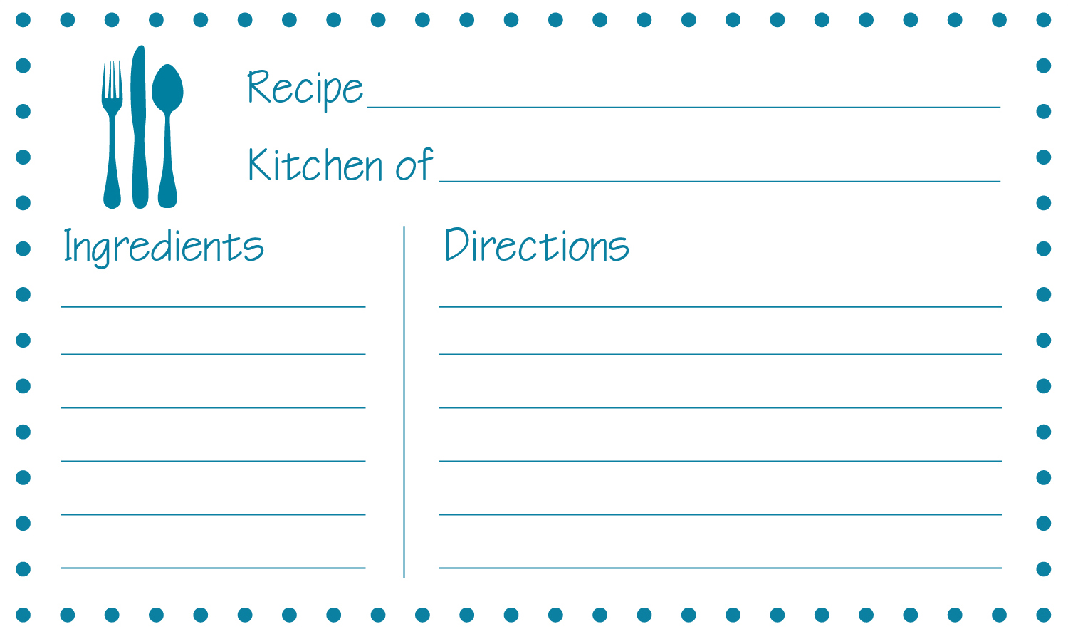 8 best images of free printable 3x5 recipe cards for Template for recipes in word