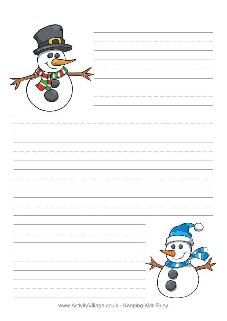 7 Images of Free Printable Snowman Paper