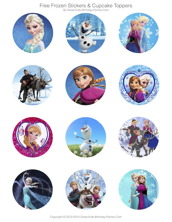 Free Printable Stickers Frozen