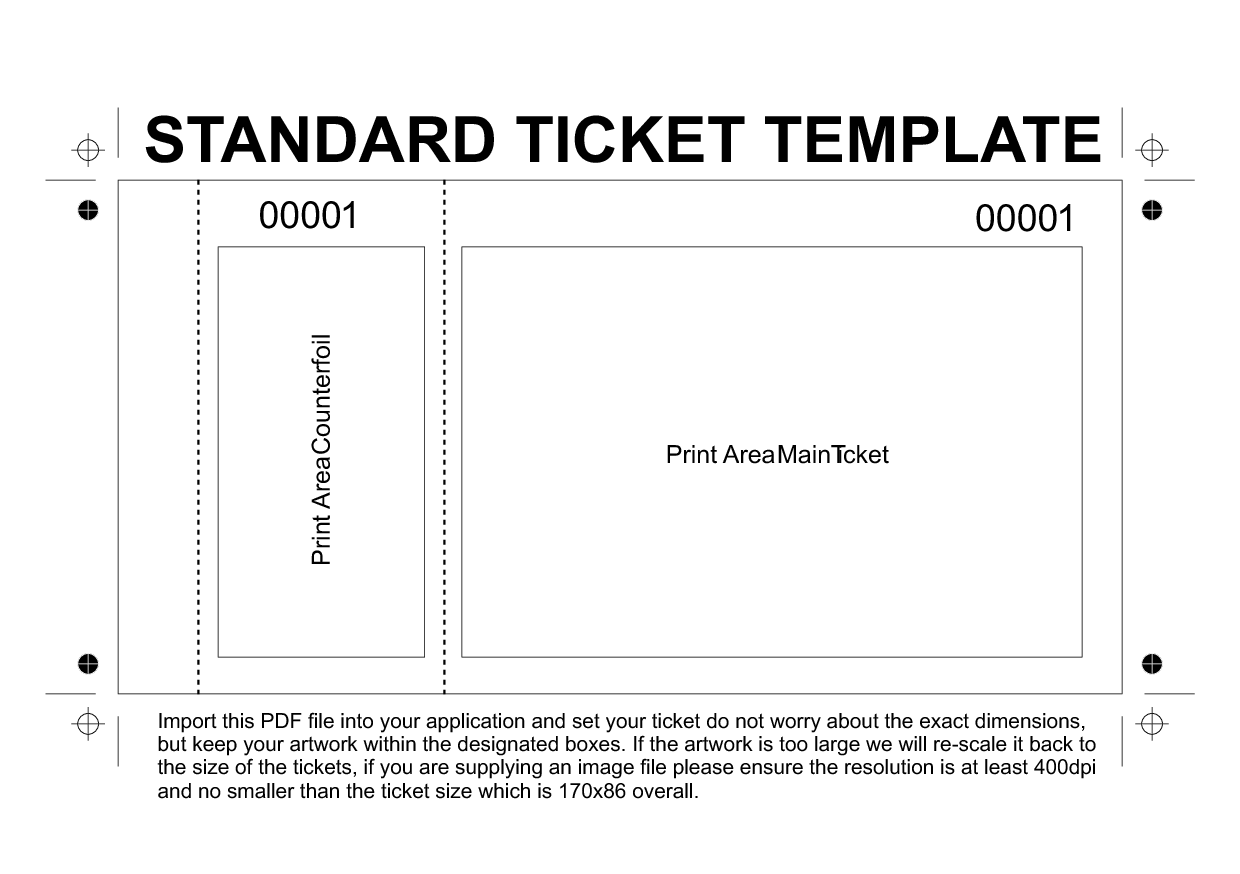 Raffle ticket template free – Free Ticket Template
