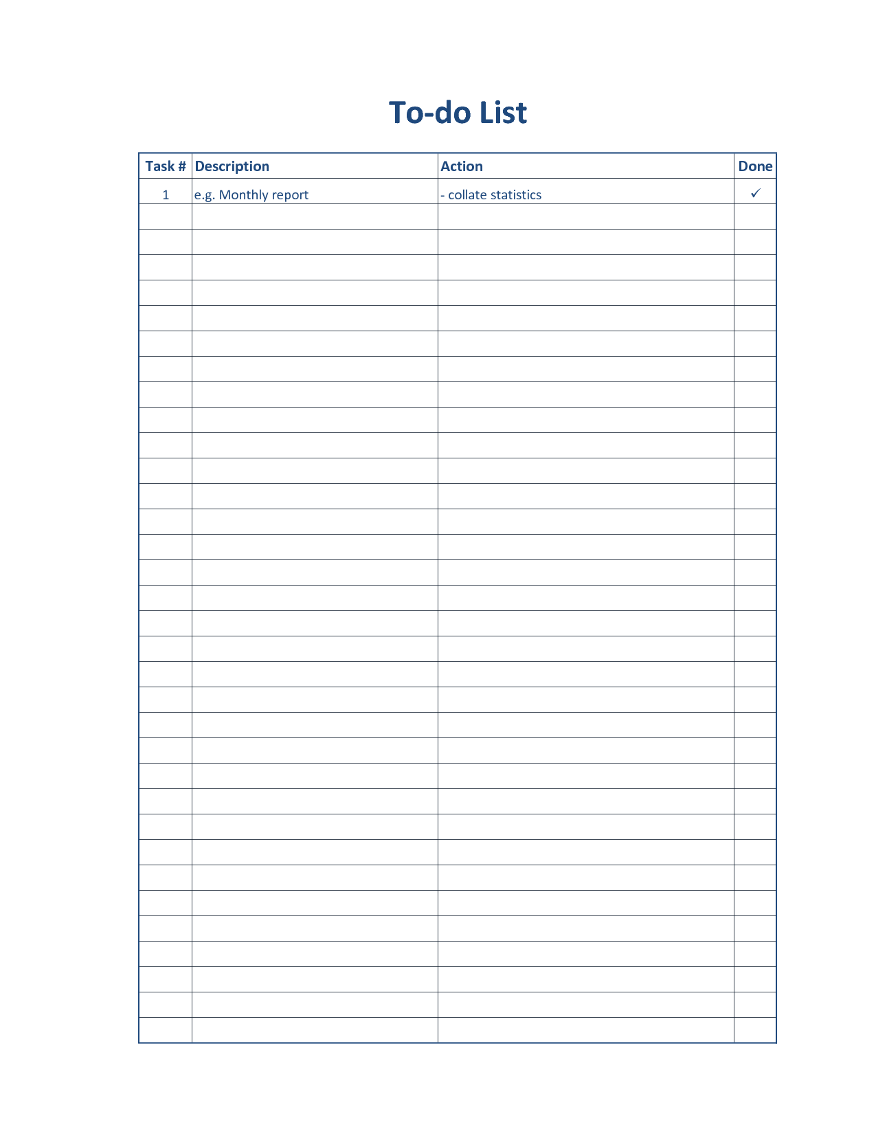 printable task list template