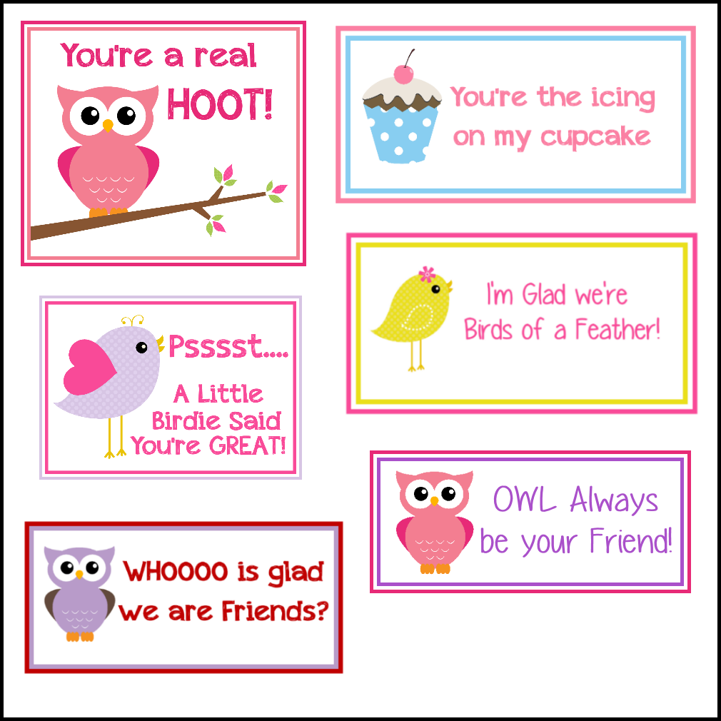 6 Images of Bird Printable Valentine Cards
