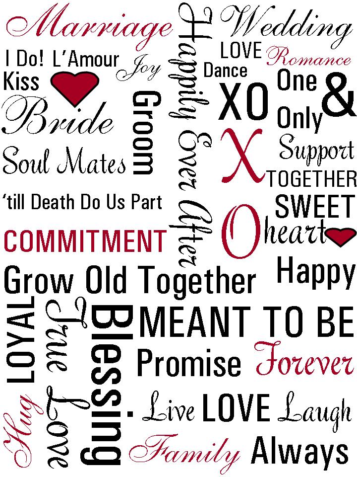 8 Images of Wedding Subway Art Printables