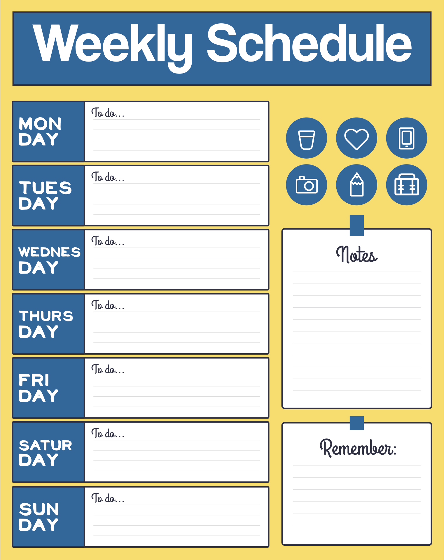 college school schedule template - 5 best images of printable blank class schedule weekly