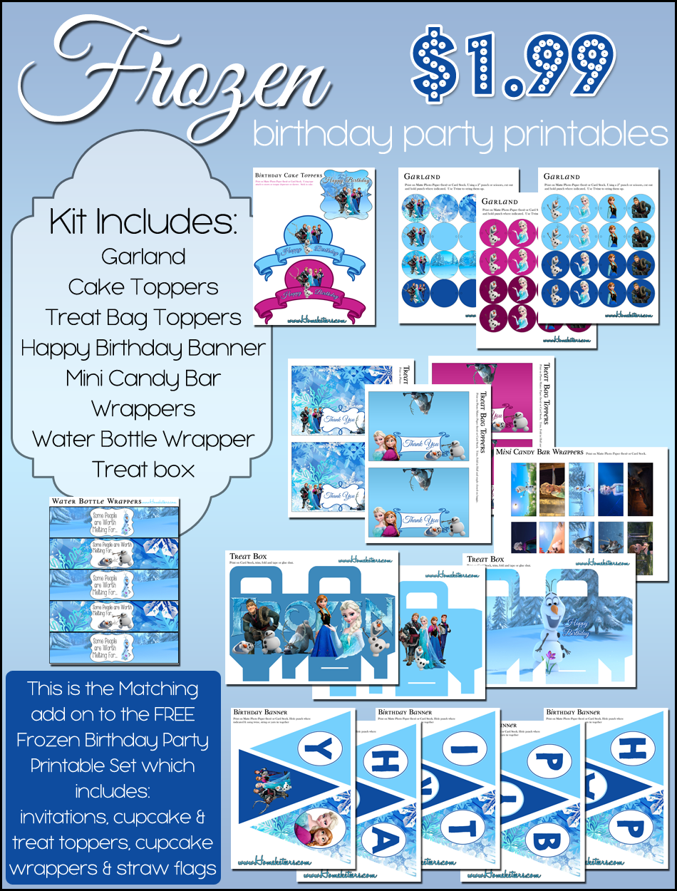 7 Images of Frozen Birthday Printables