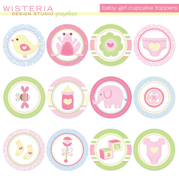 6 Images of Etsy Baby Shower Cupcake Topper Printables