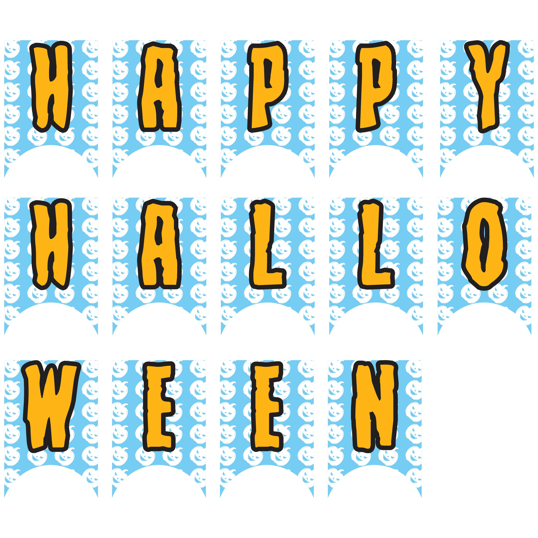 6 Images of Cut Out Halloween Banner Printable