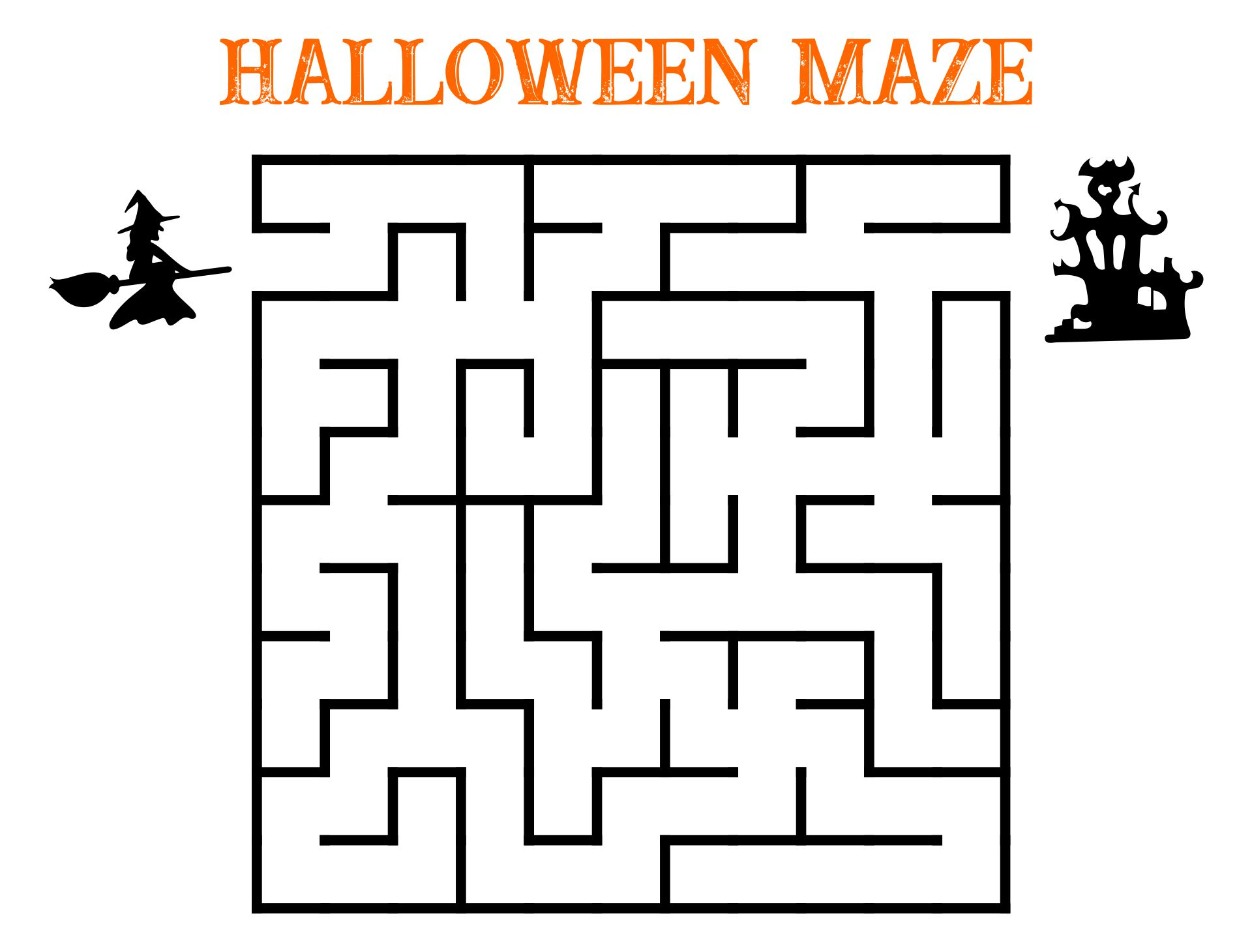 Halloween Mazes Printable