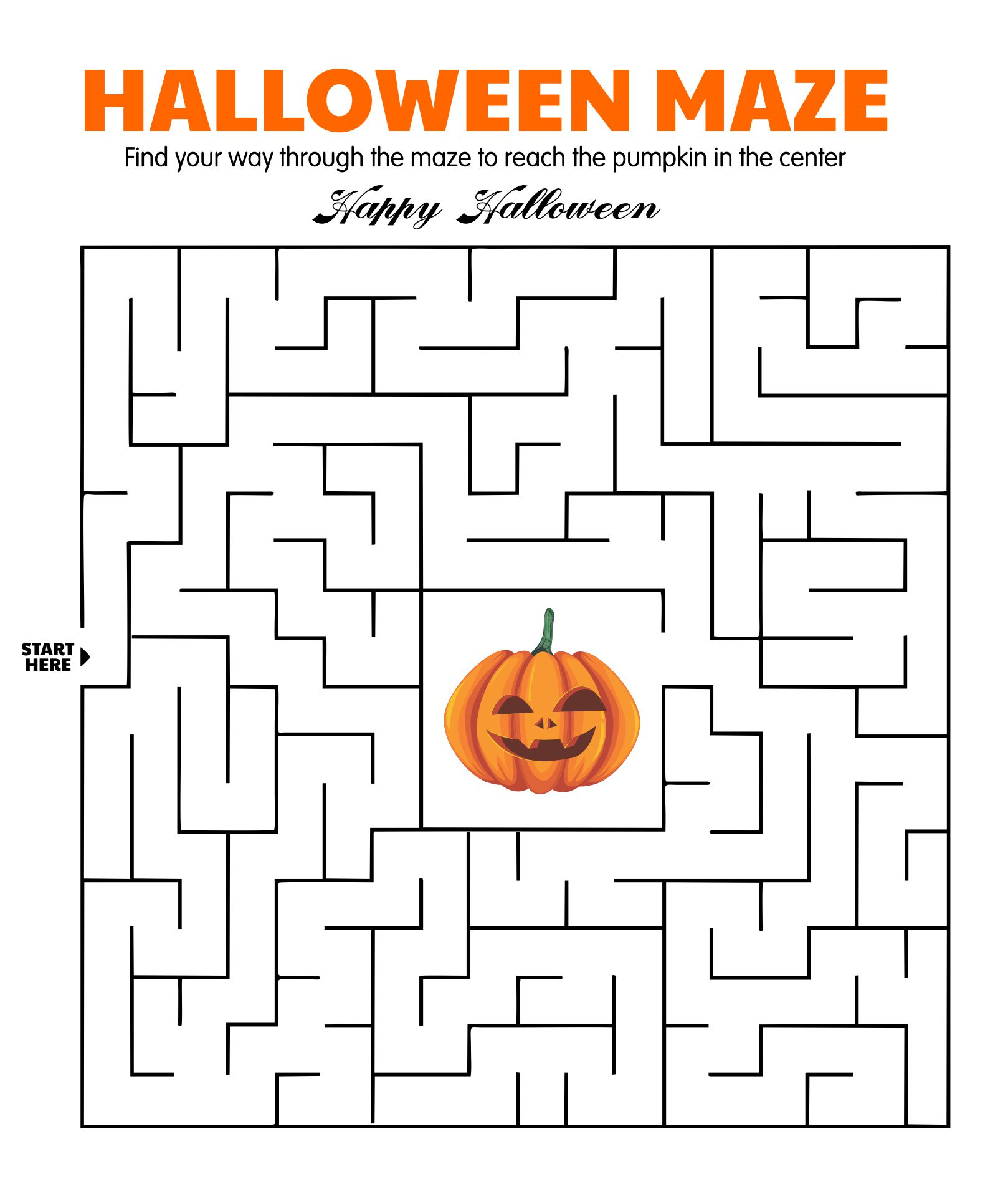 4 Images of Printable Halloween Mazes